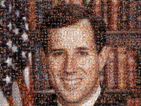 ... Santorum's picture is composed entirely of gay porn images.