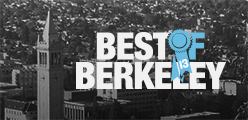 Best of Berkeley 2013 logo on top of a gray urban background.
