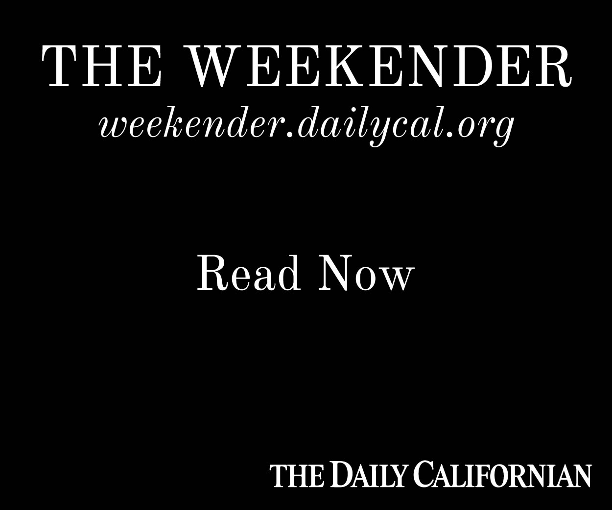 Read The Weekender, a new online magazine.