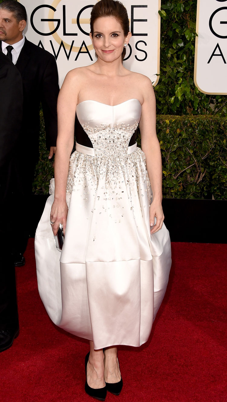 Tina Fey zac posen dress